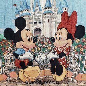 Mickey & Minnie Castle Tapestry Woven Throw